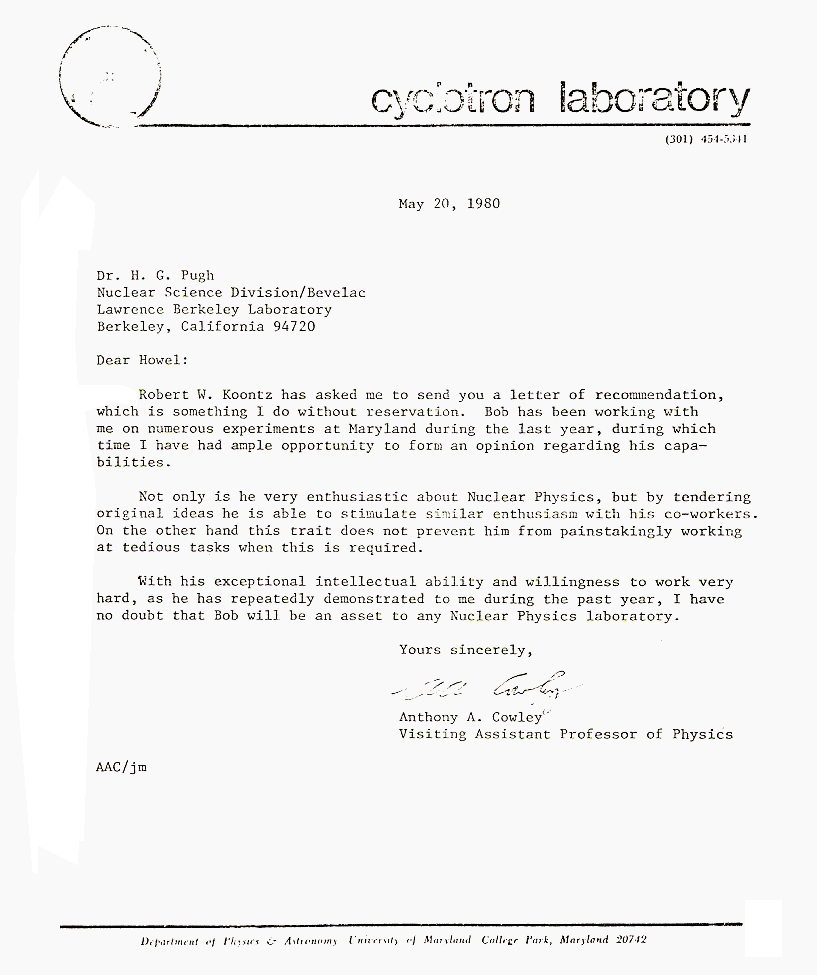 umd letter of recommendation